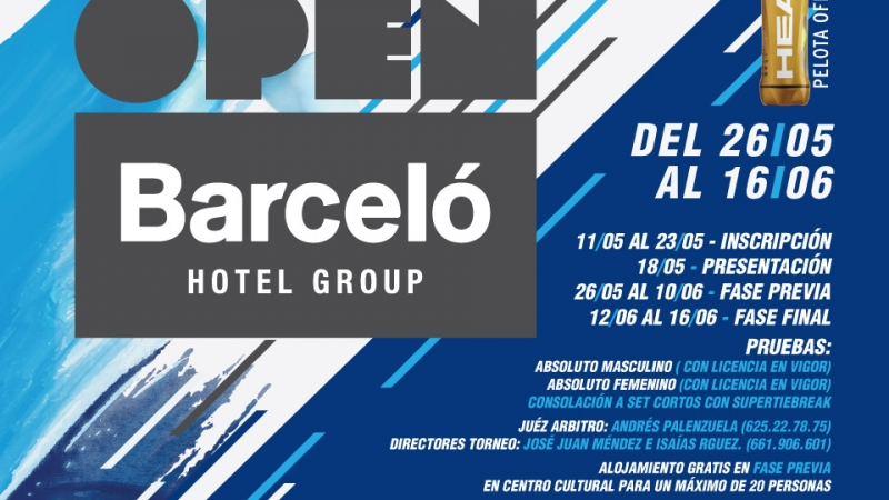 "Cartel oficial Open Barceló Hotel Group "" Los Silos Natural """